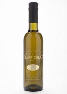small bottle of our white balasmic vinegar