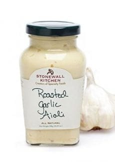 jar of garlic aioli