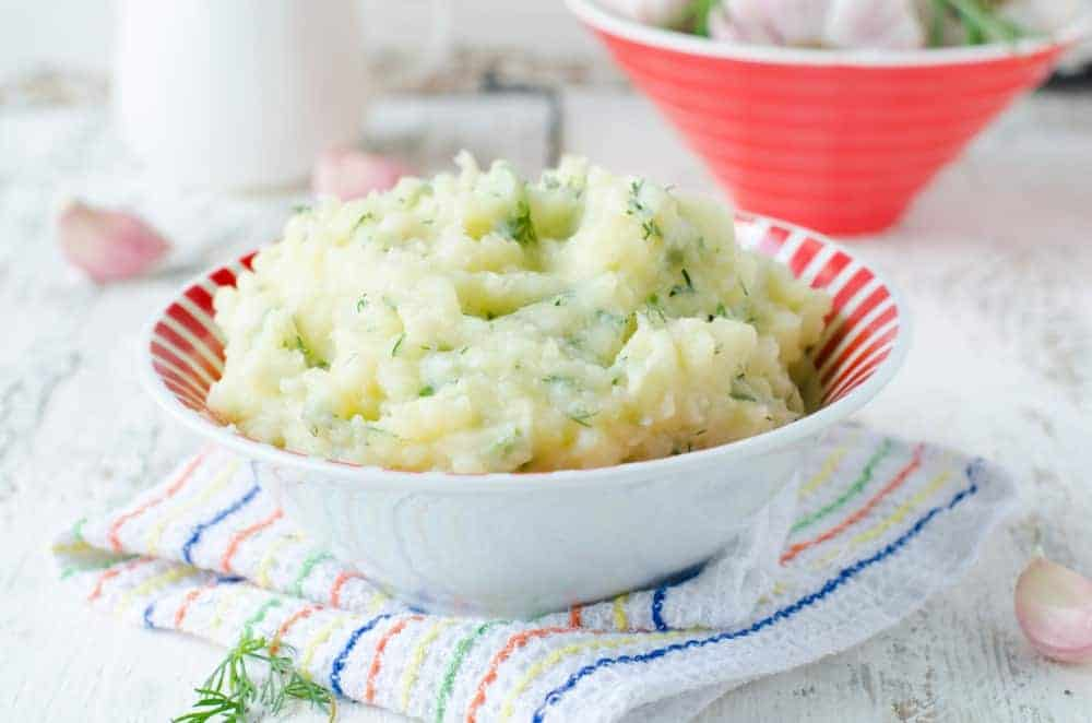 Mashed potatoes or baked with garlic